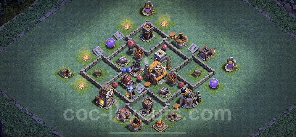 Gute Anti Alles Base Layout Meisterhütte Level 5 + Link - BH5 / MH5 Nachtdorf - COC Clash of Clans 2020 - #9
