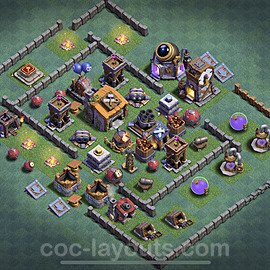 Diseño de aldea con Taller del Constructor nivel 6 Copiar - Perfecta COC Clash of Clans 2020 Base + Enlace - (#1)