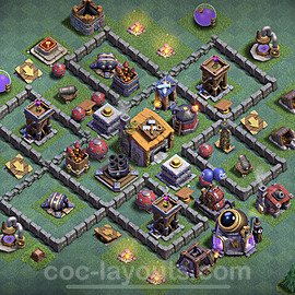 Meisterhütte LvL 6 Base + Link / Layout - Nachtdorf COC Clash of Clans 2020 - MH6 / BH6 - (#10)
