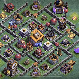 Best Builder Hall Level 6 Anti 2 Stars Base with Link - Copy Design 2020 - BH6 - #11