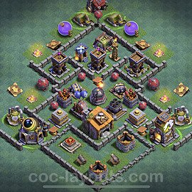Best Builder Hall Level 6 Anti Everything Base with Link - Copy Design 2020 - BH6 - #13