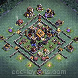 Best Builder Hall Level 6 Anti 2 Stars Base with Link - Copy Design 2020 - BH6 - #15