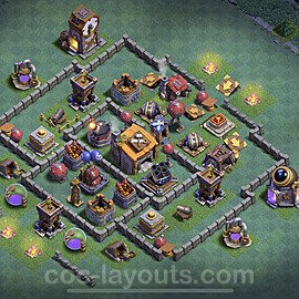 Best Builder Hall Level 6 Anti Everything Base with Link - Copy Design 2020 - BH6 - #16