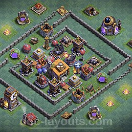 Unbeatable Builder Hall Level 6 Base with Link - Copy Design 2020 - BH6 - #17