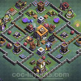 Impenetrable aldea 2020 para Taller del Constructor nivel 6 Copiar - COC Base + Enlace - #2
