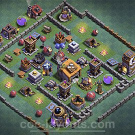 Gute Anti Alles Base Layout Meisterhütte Level 6 + Link - BH6 / MH6 Nachtdorf - COC Clash of Clans 2020 - #4