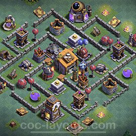 Unbeatable Builder Hall Level 6 Base with Link - Copy Design 2020 - BH6 - #6