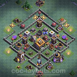 Gute Anti Alles Base Layout Meisterhütte Level 6 + Link - BH6 / MH6 Nachtdorf - COC Clash of Clans 2020 - #7