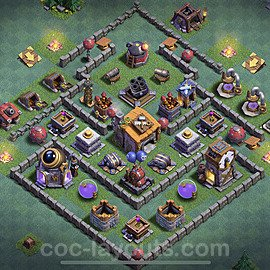 Best Builder Hall Level 6 Anti 3 Stars Base with Link - Copy Design 2020 - BH6 - #8