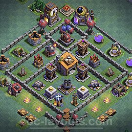 Gute Anti Alles Base Layout Meisterhütte Level 6 + Link - BH6 / MH6 Nachtdorf - COC Clash of Clans 2020 - #9