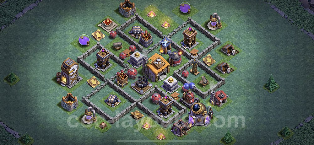 Diseño de aldea con Taller del Constructor nivel 6 Copiar - Perfecta COC Clash of Clans 2020 Base + Enlace - (#10)