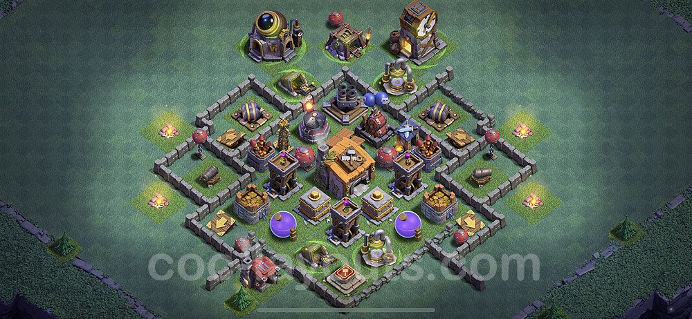 Diseño de aldea con Taller del Constructor nivel 6 Copiar - Perfecta COC Clash of Clans 2020 Base + Enlace - (#12)