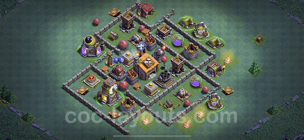 Meisterhütte LvL 6 Base + Link / Layout - Nachtdorf COC Clash of Clans 2020 - MH6 / BH6 - (#18)