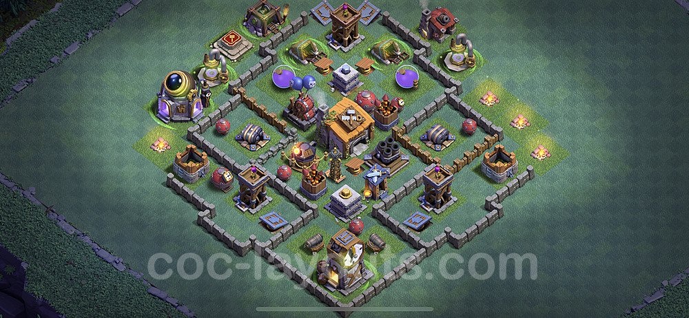 Unbeatable Builder Hall Level 6 Base with Link - Copy Design 2020 - BH6 - #2