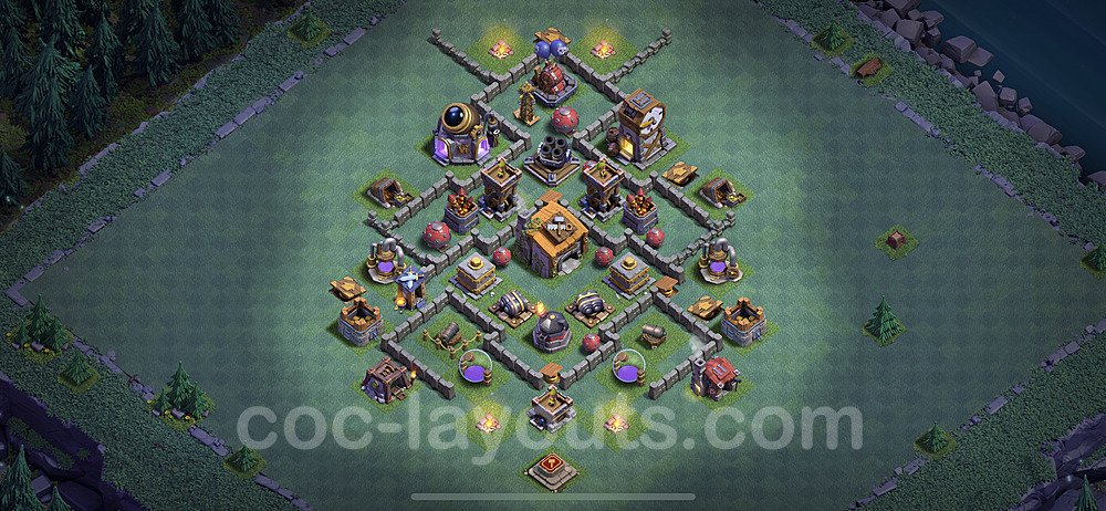 Diseño de aldea con Taller del Constructor nivel 6 Copiar - Perfecta COC Clash of Clans 2021 Base + Enlace - (#20)