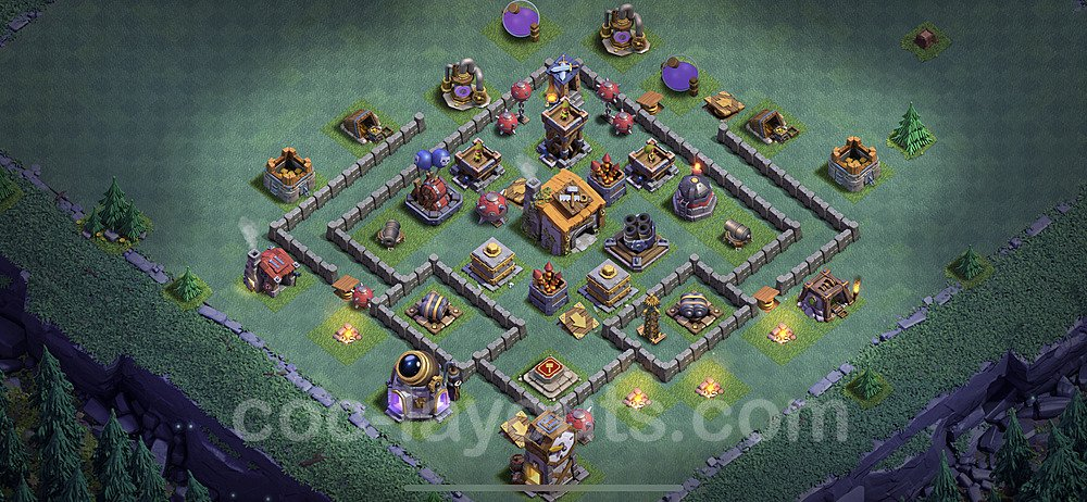 Layout da base Vila do Construtor CV6 com link 2021, #23