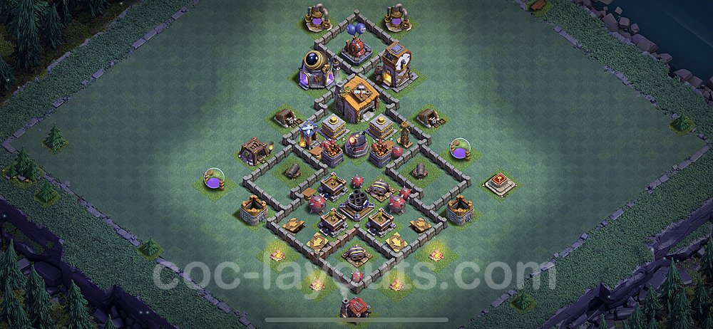 Diseño de aldea con Taller del Constructor nivel 6 Copiar - Perfecta COC Clash of Clans 2021 Base + Enlace - (#25)