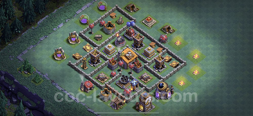 Best Builder Hall Level 6 Anti Everything Base with Link - Copy Design 2020 - BH6 - #26