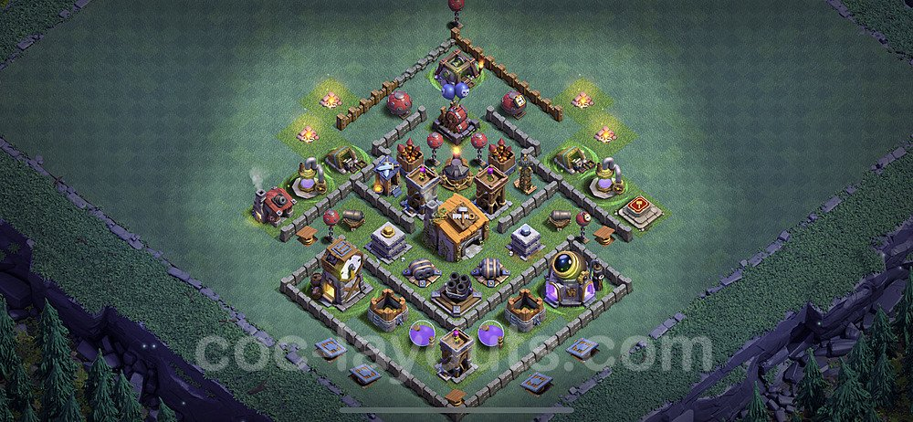 Best Builder Hall Level 6 Anti 3 Stars Base with Link - Copy Design 2020 - BH6 - #3