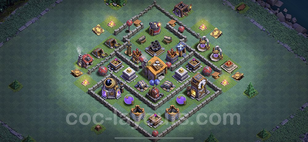 Layout da base Vila do Construtor CV6 com link 2020, #8