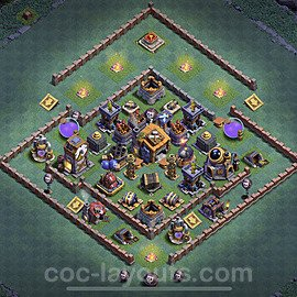 Best Builder Hall Level 7 Anti Everything Base with Link - Copy Design 2020 - BH7 - #13