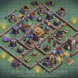 Diseño de aldea con Taller del Constructor nivel 7 Copiar - Perfecta COC Clash of Clans 2020 Base + Enlace - (#16)