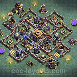 Best Builder Hall Level 7 Anti 3 Stars Base with Link - Copy Design 2020 - BH7 - #18