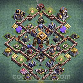 Best Builder Hall Level 7 Anti Everything Base with Link - Copy Design 2020 - BH7 - #20