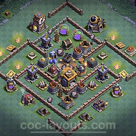 Gute Anti Alles Base Layout Meisterhütte Level 7 + Link - BH7 / MH7 Nachtdorf - COC Clash of Clans 2020 - #32