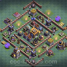 Gute Maximal Base Layout Meisterhütte Level 7 - BH7 / MH7 Nachtdorf - COC Clash of Clans 2020 - #33