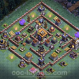 Meisterhütte LvL 7 Base + Link / Layout - Nachtdorf COC Clash of Clans 2020 - MH7 / BH7 - (#34)