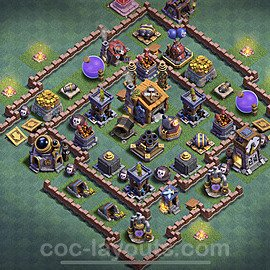 Gute Maximal Base Layout Meisterhütte Level 7 + Link - BH7 / MH7 Nachtdorf - COC Clash of Clans 2020 - #35