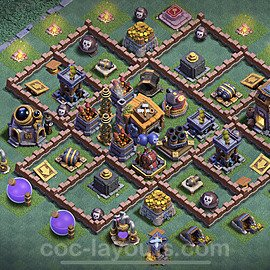 Gute Maximal Base Layout Meisterhütte Level 7 + Link - BH7 / MH7 Nachtdorf - COC Clash of Clans 2020 - #36