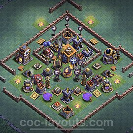 Meisterhütte LvL 7 Base + Link / Layout - Nachtdorf COC Clash of Clans 2020 - MH7 / BH7 - (#39)