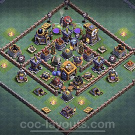 Best Builder Hall Level 7 Anti 2 Stars Base with Link - Copy Design 2020 - BH7 - #6