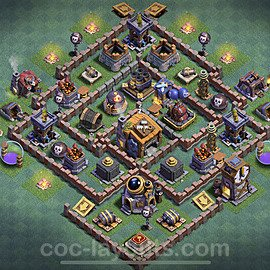 Best Builder Hall Level 7 Anti 3 Stars Base with Link - Copy Design 2020 - BH7 - #8
