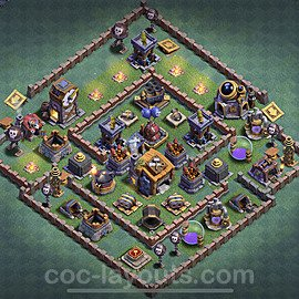 Best Builder Hall Level 7 Anti Everything Base with Link - Copy Design 2020 - BH7 - #9