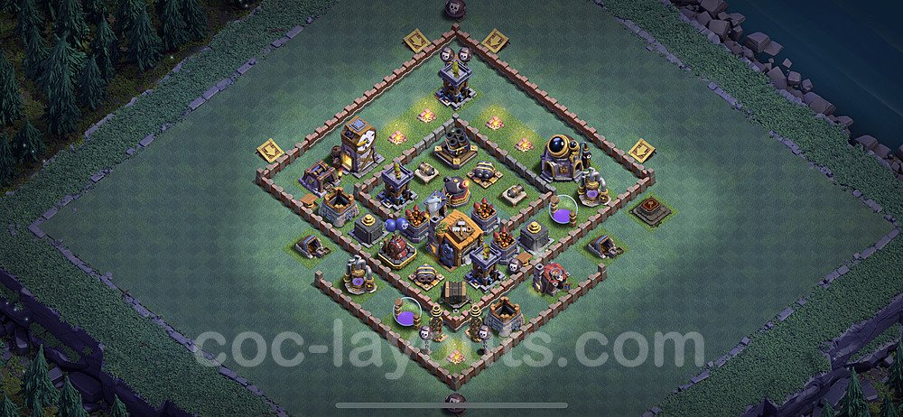Meisterhütte LvL 7 Base + Link / Layout - Nachtdorf COC Clash of Clans 2020 - MH7 / BH7 - (#1)