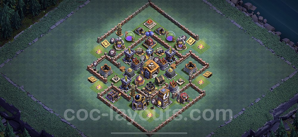 Best Builder Hall Level 7 Base with Link - Clash of Clans 2020 - BH7 Copy - (#10)
