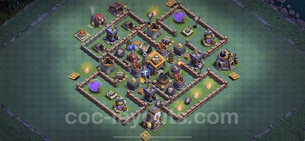 Diseño de aldea con Taller del Constructor nivel 7 Copiar - Perfecta COC Clash of Clans 2020 Base + Enlace - (#12)