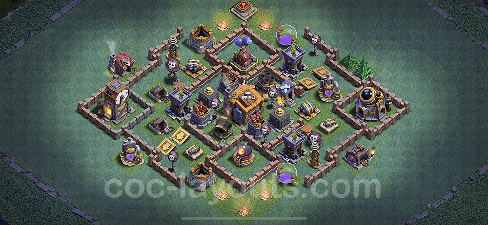 Best Builder Hall Level 7 Anti 3 Stars Base with Link - Copy Design 2020 - BH7 - #15