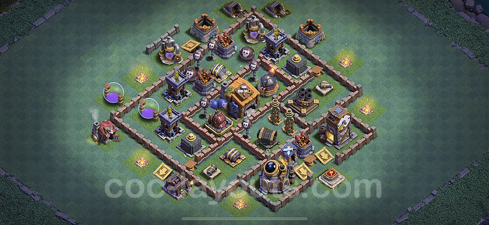 Meisterhütte LvL 7 Base + Link / Layout - Nachtdorf COC Clash of Clans 2020 - MH7 / BH7 - (#16)