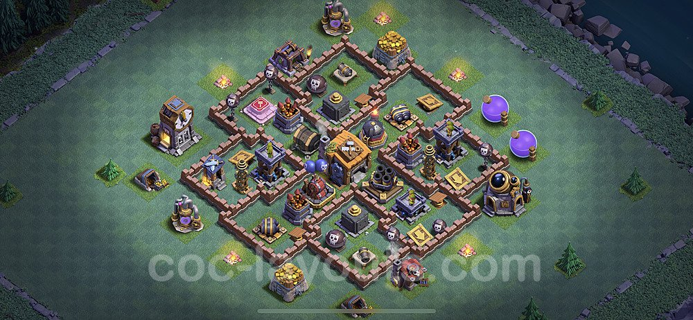 Best Builder Hall Level 7 Anti 2 Stars Base with Link - Copy Design 2020 - BH7 - #21