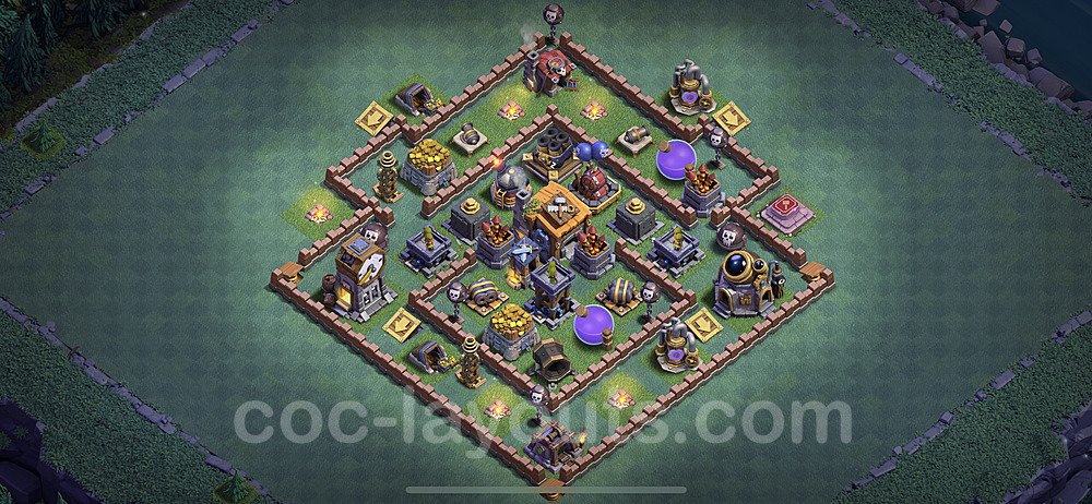 Best Builder Hall Level 7 Anti 3 Stars Base with Link - Copy Design 2020 - BH7 - #22