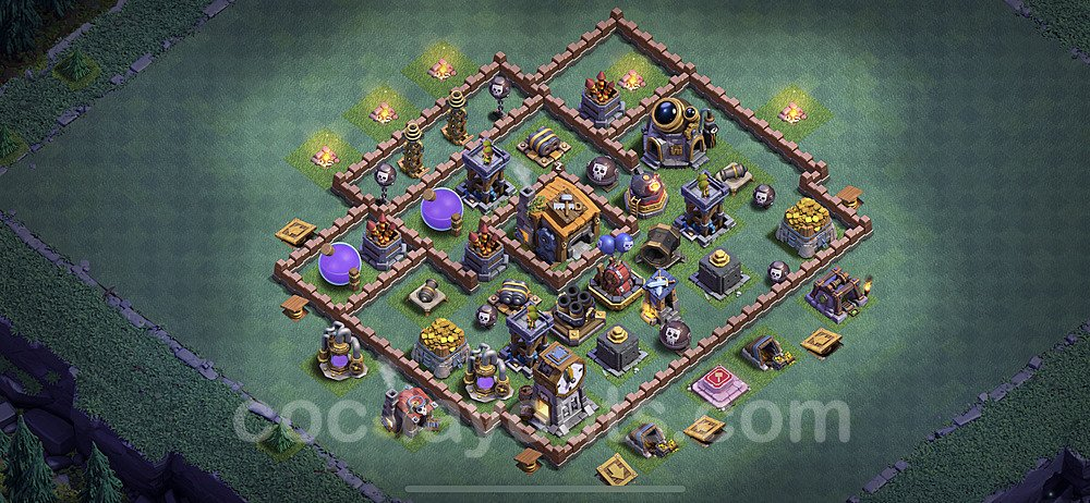 Best Builder Hall Level 7 Anti Everything Base with Link - Copy Design 2020 - BH7 - #23