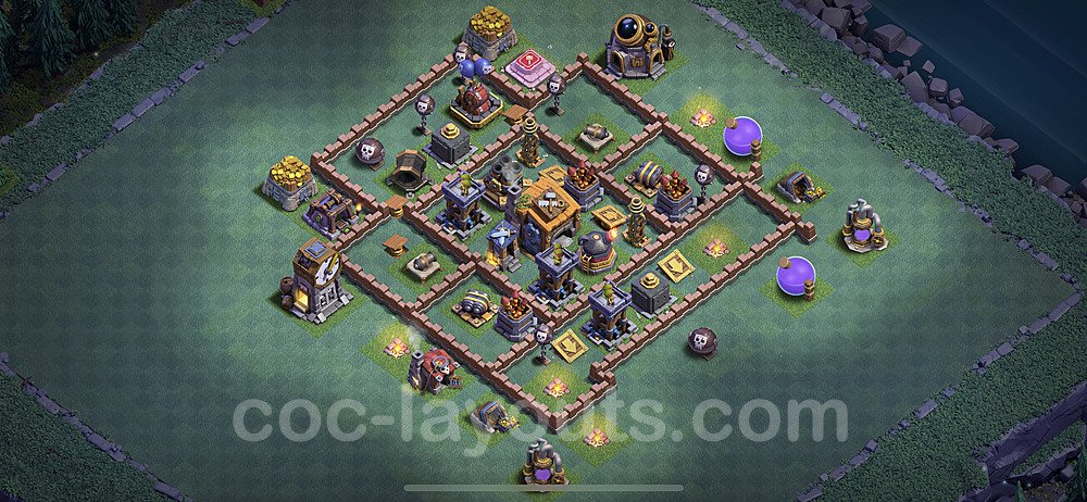 Best Builder Hall Level 7 Anti 2 Stars Base with Link - Copy Design 2020 - BH7 - #24