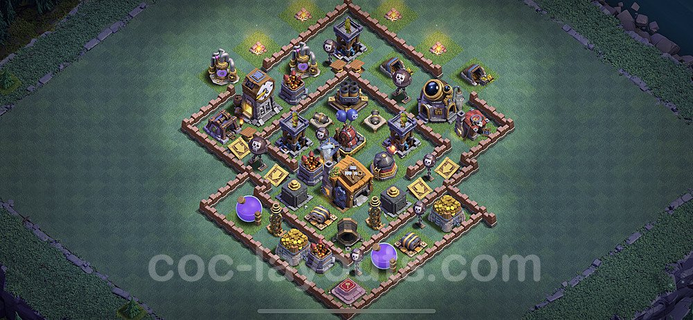 Best Builder Hall Level 7 Anti 2 Stars Base with Link - Copy Design 2020 - BH7 - #26