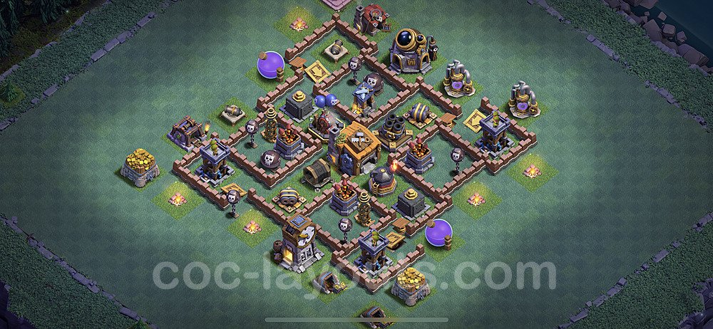 Unbeatable Builder Hall Level 7 Base with Link - Copy Design 2020 - BH7 - #28