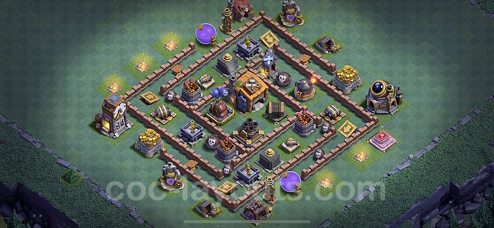 Gute Maximal Base Layout Meisterhütte Level 7 + Link - BH7 / MH7 Nachtdorf - COC Clash of Clans 2020 - #31