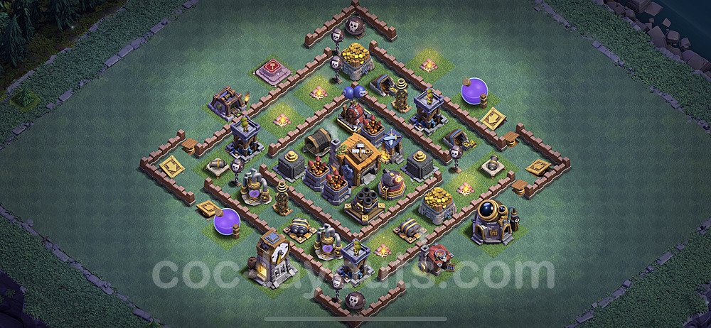 Gute Maximal Base Layout Meisterhütte Level 7 + Link - BH7 / MH7 Nachtdorf - COC Clash of Clans 2020 - #33